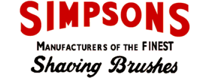 Buy Best Simpsons Shaving Brushes by Simpsons at Luxury Barber